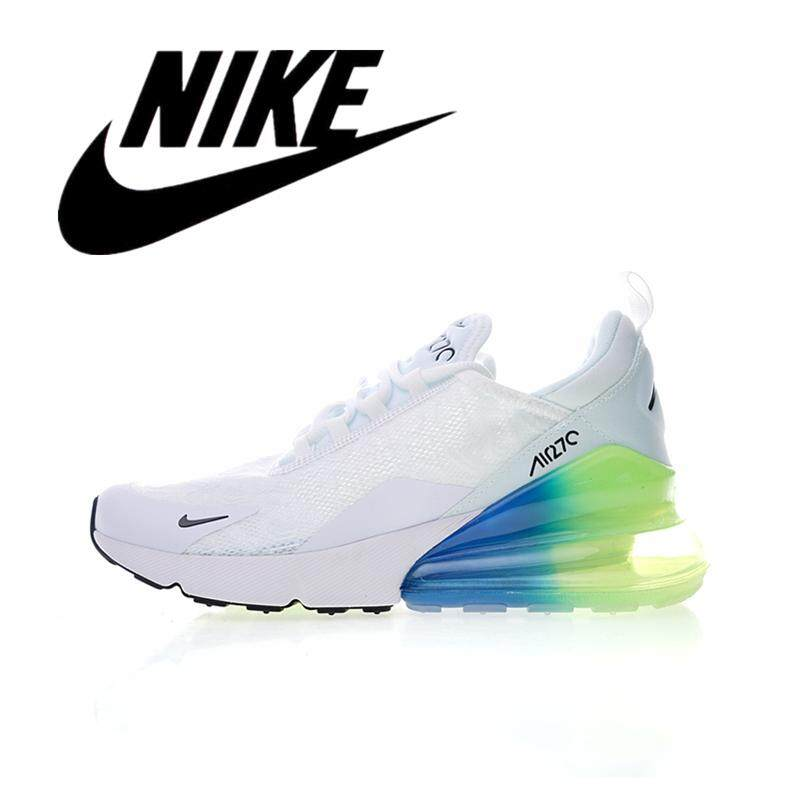 _Nike _Air Max 270 Men Wearable Running Shoes Outdoor Lightweight Sneakers Breathable White Green 40-45#AH8050-025