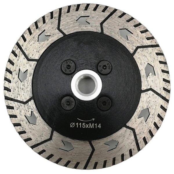 1Pc 4.5 Inch Diamond Dual Saw Blade Dia 115Mm Cutting Grinding Disc Cut Grind Sharpen Granite Marble Concrete