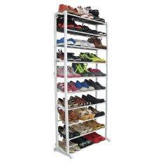 ส่วนลด Bh ชั้นวางรองเท้าขนาด 10 ชั้น Shoe Rack สีขาว Bh ไทย