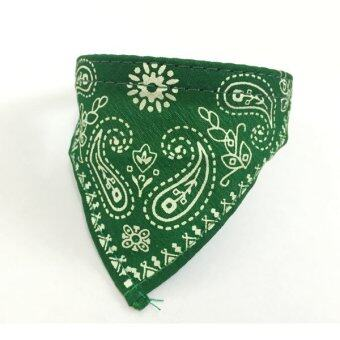 BH-N009-XS-Green Lovely Pet Dog Cat Adjustable Triangle Bandana Collar (Green)