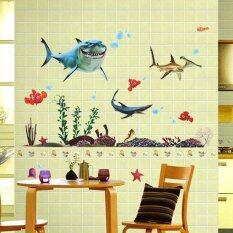 ขาย ซื้อ Big Sharks Sea Fishes Animals Plants Wall Decal Pvc Home Stickerhouse Vinyl Paper Decoration Wallpaper Living Room Bedroom Kitchenart Picture Diy Murals Girls Boys Kids Nursery Baby Playroom Decor ใน ฮ่องกง