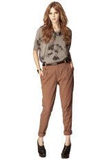 ซื้อ Bigsale Fashion กางเกง Retro Touch สีน้ำตาล