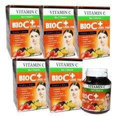 ซื้อ Bio C Vitamin Alpha Zinc 1 500 Mg ไบโอ ซี วิตามิน ขนาด 30 เม็ด X 5 กล่อง ออนไลน์ ถูก