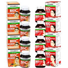 ซื้อ Bio C Vitamin Alpha Zinc ไบโอซี วิตามิน ซี ซิงค์ 1 500 Mg แพคคู่ Bio Lycope ผิวใส เนียนขาว บรรจุกระปุก 30 เม็ด อย่างละ 4 กล่อง ถูก