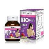 Bio Fin Vitamin 3In1 Premium ไบโอ ฟิน วิตามิน อาหารเสริมสำหรับผู้หญิง ขนาด 30 เม็ด 1 กล่อง เป็นต้นฉบับ