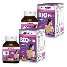 ราคา Bio Fin Vitamin 3In1 Premium ไบโอ ฟิน วิตามิน อาหารเสริมสำหรับผู้หญิง ขนาด 30 เม็ด 2 กล่อง เป็นต้นฉบับ