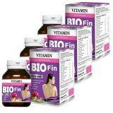 ราคา Bio Fin Vitamin 3In1 Premium ไบโอ ฟิน วิตามิน อาหารเสริมสำหรับผู้หญิง ขนาด 30 เม็ด 3 กล่อง