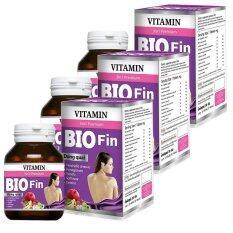 ราคา Bio Fin Vitamin 3In1 Premium ไบโอ ฟิน วิตามิน อาหารเสริมสำหรับผู้หญิง ขนาด 30 เม็ด 3 กล่อง Bio ใหม่