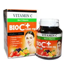 ราคา Bio Vitamin C Alpha Zinc 1 500 Mg วิตามิน ซี อัลฟ่า ซิงค์ ขนาด 30 เม็ด 1 กล่อง ใหม่ล่าสุด