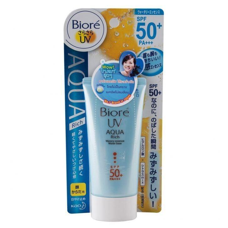 รีวิว Biore UV Aqua Rich Watery Essence SPF50/PA+++ 50 g