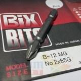 ราคา ราคาถูกที่สุด Bix Japan ดอกไขควง แม่เหล็ก สำหรับงานหนัก No 2 ยาว 65 มม รุ่น B 12 สีดำ