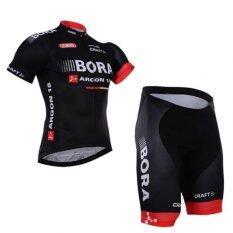 Bjs ชุดปั่นจักรยานผู้ชาย รุ่น Bora 2016 สีดำ แดง ผ้า Polyester 100 ผสม Spandex เป็นต้นฉบับ