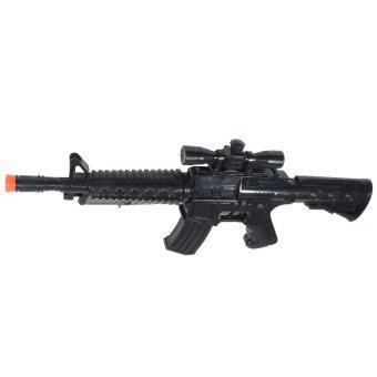BKL TOY ของเล่น ปืน ปืนยาว ปืนM16 กลไกลาน มีเสียง 00224