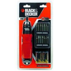 ซื้อ Black Decker ไขควงไฟฟ้า 6V ใช้ถ่าน Black Decker