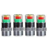 ขาย ซื้อ ออนไลน์ Blue Lans Car Tire Pressure Monitor Valve Caps Sensor Set Of 4 Black