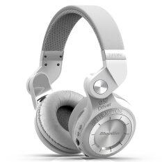 ขาย Bluedio หูฟังบลูทูธ Bluetooth 4 1 Hifi Stereo Headphone Super Bass Gameing รุ่น T2 Plus (White) ถูก
