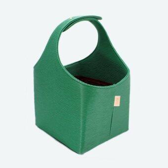BMI Basket(Emerald Green) Mom's basket ตะกร้าคุณแม่ เพื่อคุณลูก ตะกร้าใส่นม ตะกร้าใส่ของลูกน้อย เบบี๋ ตะกร้าหนัง(เขียว)