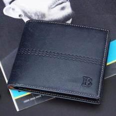 ราคา Bogesi กระเป๋าสตางค์ ผู้ชาย กระเป๋าเงิน กระเป๋าตัง บาง ทรงสั้น Wallet Mens Luxury Leather Credit Id Card Holder Baellerry Billfold Coin Purse Blue ถูก