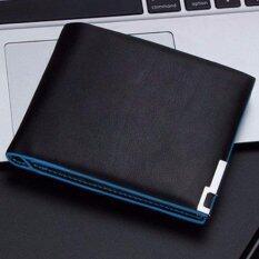 ราคา Bogesi กระเป๋าสตางค์ ผู้ชาย กระเป๋าเงิน กระเป๋าตัง บาง ทรงสั้น Wallet Mens Luxury Leather Credit Id Card Holder Bogesi Billfold Coin Purse Black Thailand