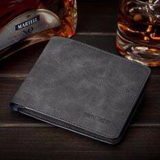 ซื้อ Bogesi กระเป๋าสตางค์ ผู้ชาย กระเป๋าเงิน กระเป๋าตัง บาง ทรงสั้น Wallet Mens Luxury Leather Credit Id Card Holder Bogesi Billfold Coin Purse สมุทรปราการ