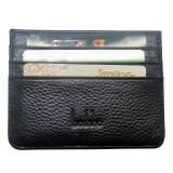 ซื้อ Boshiho® Leather Credit Card Holder Wallet Ultrathin 4 Card Slots Front Pocket Wallet Black Intl Boshiho