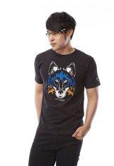 ราคา Brainstorm เสื้อยืด งานปัก T Shirt คอกลม แฟชั่น ลายหมา สีดำ ที่สุด