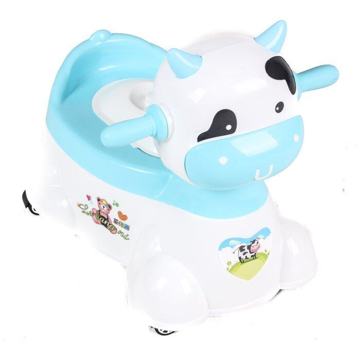 ราคา Papachoice Brightbaby กระโถนเด็กหน้าวัว (สีฟ้า)