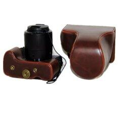 ส่วนลด Brown Camera Pu Leather Case Cover Bag For Canon G3X จีน