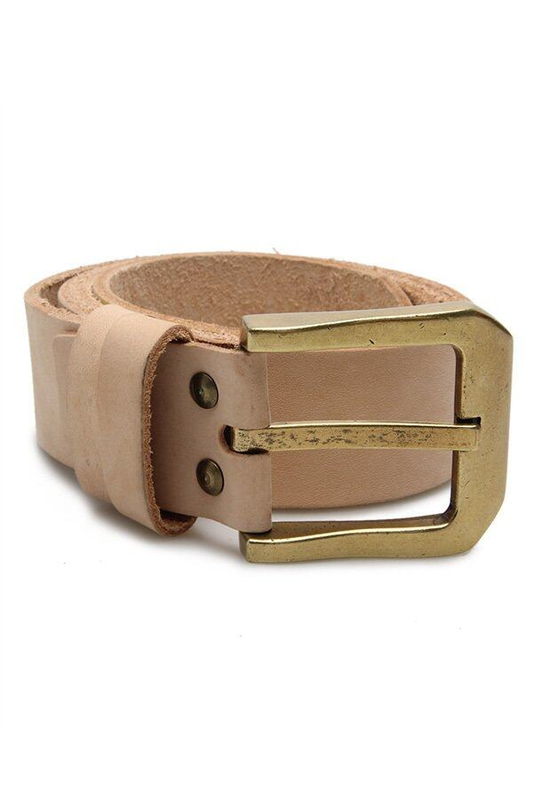 Brown Stone เข็มขัดหนังแท้ – Cowhide Belt B005 Vegetable tanned