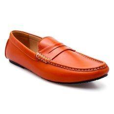 ขาย Brown Stone รองเท้าหนังทรง Penny Loafer Dp033 Soft Squeeze Orange Brown Stone เป็นต้นฉบับ