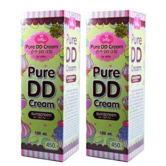 by jellys Pure DD Cream เพียวดีดีครีม ดีดีครีมเจลลี่ หัวเชื้อผิวขาว 100 ml. (2 กล่อง)