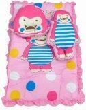 โปรโมชั่น By Twelve ที่นอนเด็ก ที่นอนปิคนิคเด็ก อย่างหนาพิเศษ พร้อมหมอนและหมอนข้างตุ๊กตา ลายล็อค ลิงน้อย สีชมพู แถมตุ๊กตากระดิ่งมือถือ คละแบบ มูลค่า 60 บาท