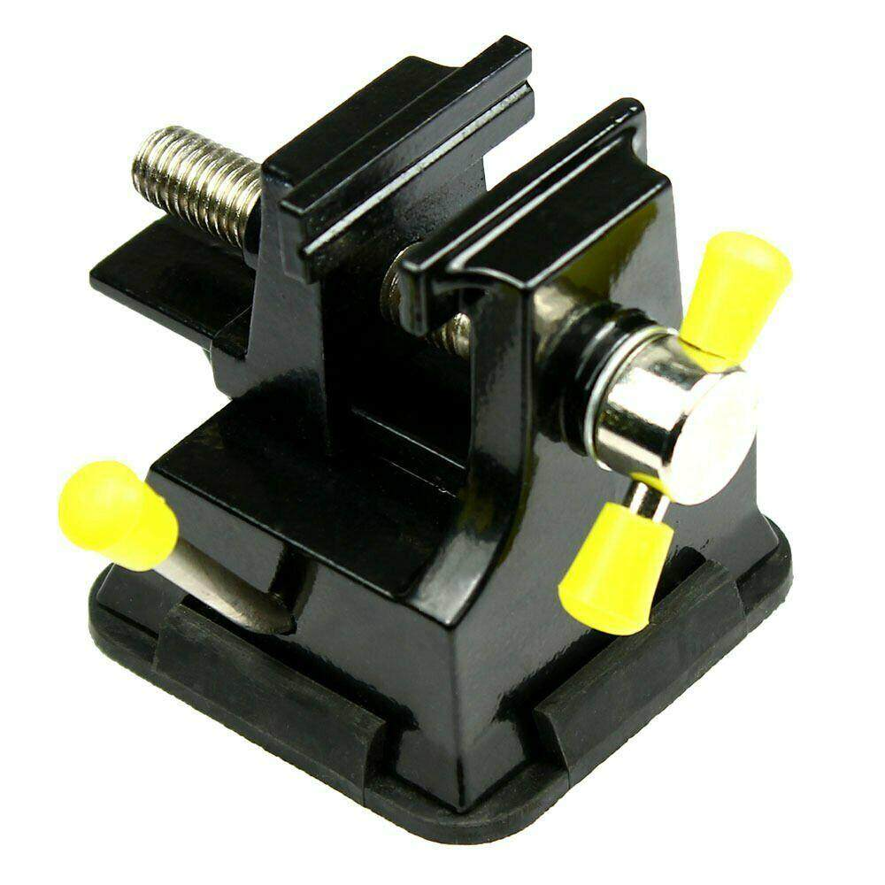 Big House Miniature Tabletop Vise With Suction Cup Vice For Electronics Modeling Jewelry Hand Tool(Black)