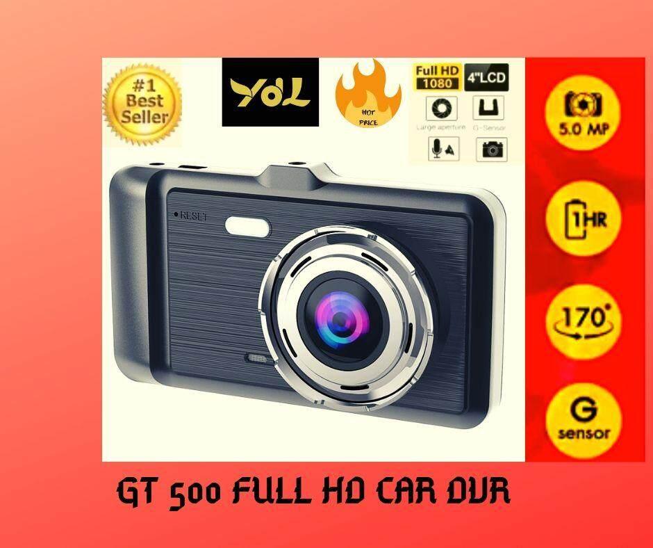 กล้องติดรถยนต์หน้าหลัง 2019 จอips ระบบสัมผัสแบบใหม่ 4 ภาษาไทย - Gt500 สีดำ Touchscreen ของแท้ ชัดสุด ๆ.