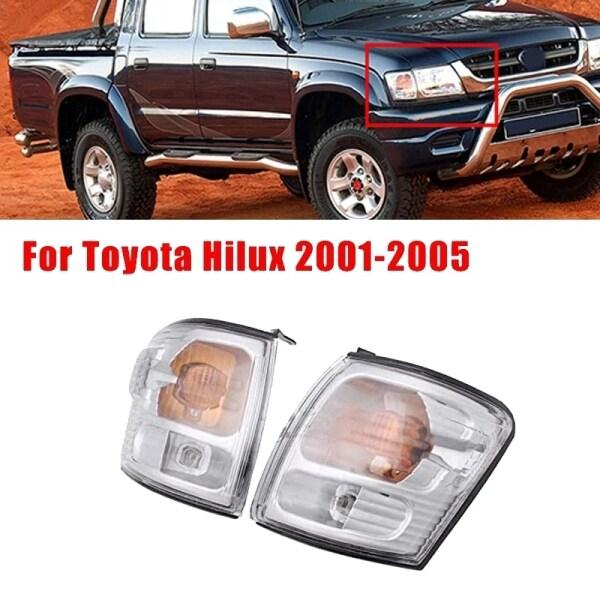 2Pcs Car Front Corner Light Turn Signal Daytime Running Light for Toyota Hilux 2001-2005 81520-35280 81521-35280