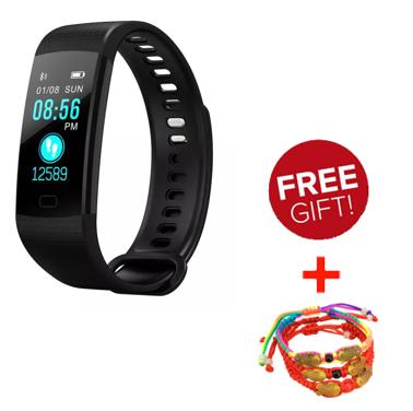 Smartwatch Y5 สายรัดข้อมือนาฬิกาตรวจสอบอัตราการเต้นของหัวใจนาฬิกาบลูทู ธ โทรออกด้วยเสียงนาฬิการับข้อมูล Iphone/huawei/oppo/vivo/xiaomi ทั่วไป.