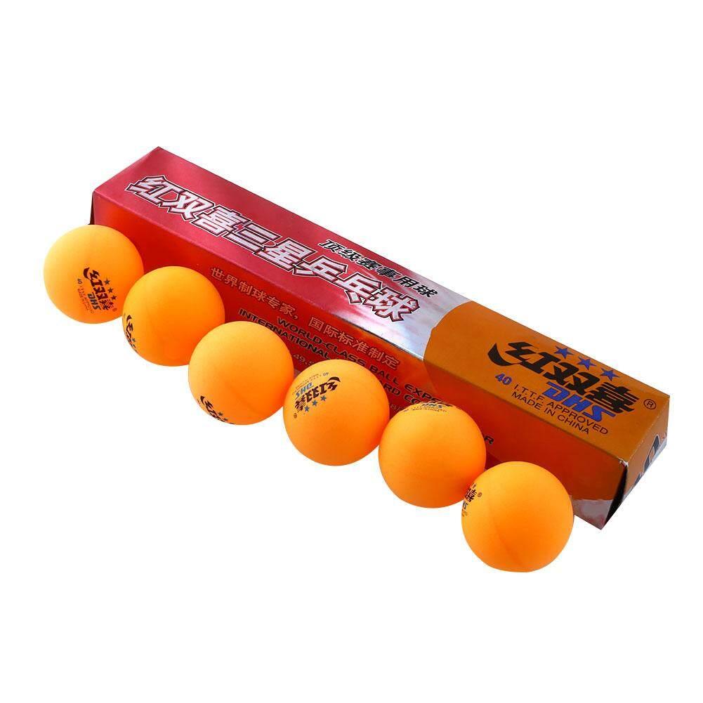 Aukey 6 ชิ้น 3 ดาว Dhs Pingpong Ball 40 มิลลิเมตรเทนนิสโอลิมปิกสีส้มสีเหลืองลูกปิงปองมืออาชีพ By Aukey Store.