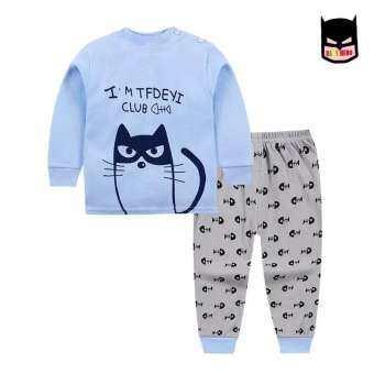 ชุดนอนเด็กนำเข้า สำหรับเด็ก 3เดือน-4ปี (XS-XL) เสื้อแขนยาว+กางเกงขายาว ผ้านิ่มใส่สบายเนื้อผ้า cotton ใส่ได้ทั้งชายหญิง-