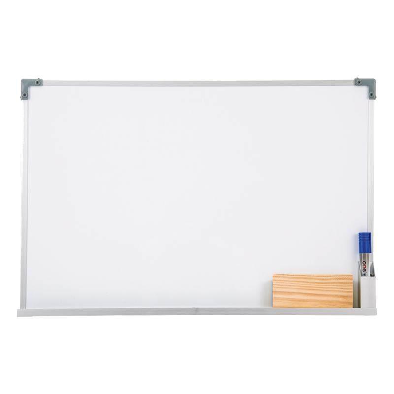 Bkk Office Whiteboard กระดานไวท์บอร์ด ขอบอลูมิเนียม ขนาด 30*40 Cm แถมฟรี!!! ปากกาไวท์บอร์ดและที่ลบกระดาน By Bkk Office.