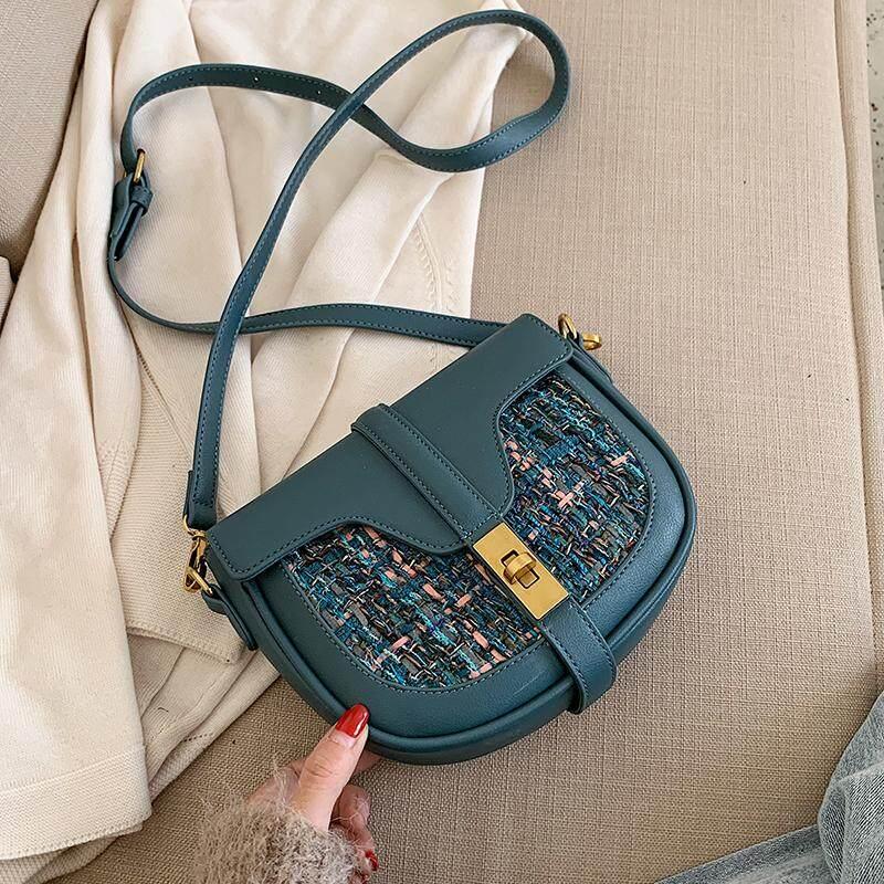 Online Celebrity Small Bag Female 2019 New Style Fashion Korean Style Versatile Crossbody Bag Vintage Hong Kong Style Fashion Saddle Bag