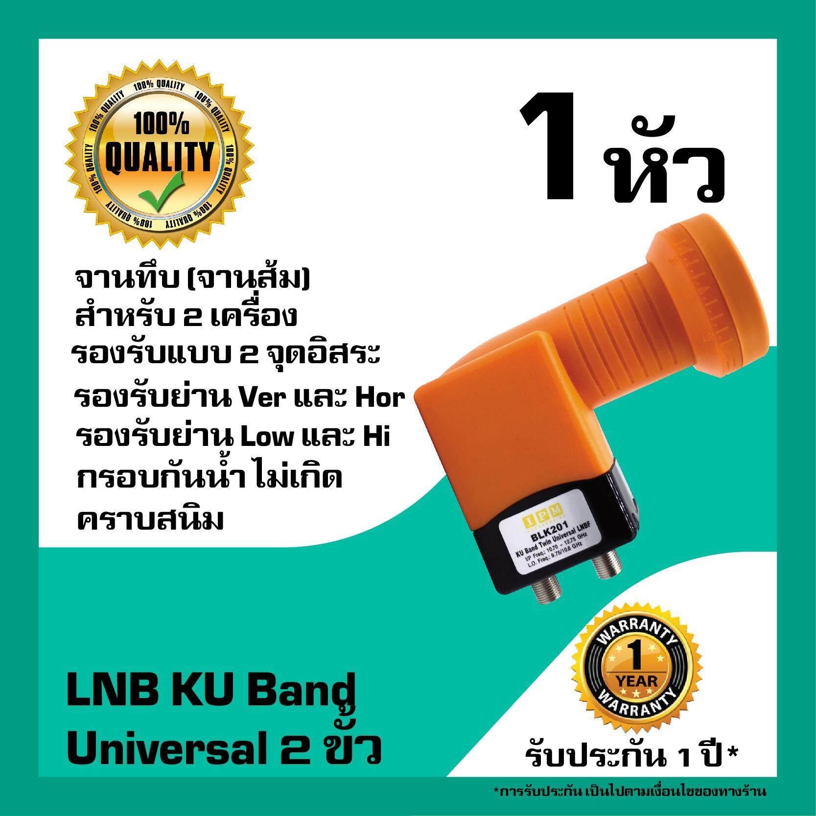 หัวรับสัญญาณดาวเทียม Ipm Lnb Universal 2 ขั้วอิสระ Lnb Ku Band สำหรับจานทึบ.