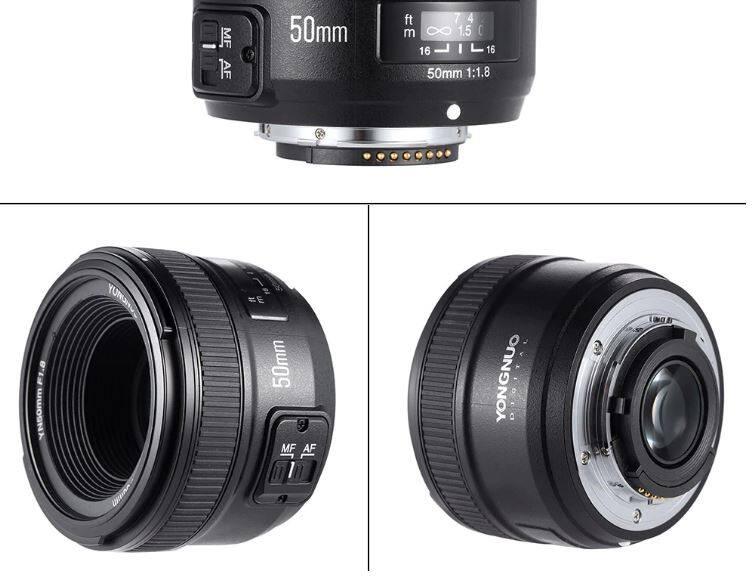 เลนส์โฟกัสสำหรับ Canon Yongnuo Yn-50mm F1.8 Af/mffor Canon Ef Mount Canon Eos 60d 70d 5d2 5d3 600d Dslr.