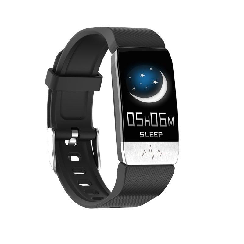 Smartwatch T1sเครื่องวัดอุณหภูมิแฟชั่นสร้อยข้อมือนาฬิกาสมาร์ทการวัดภูมิคุ้มกันคลื่นไฟฟ้าหัวใจไฟฟ้าออกซิเจนอัตราการเต้นของหัวใจ.