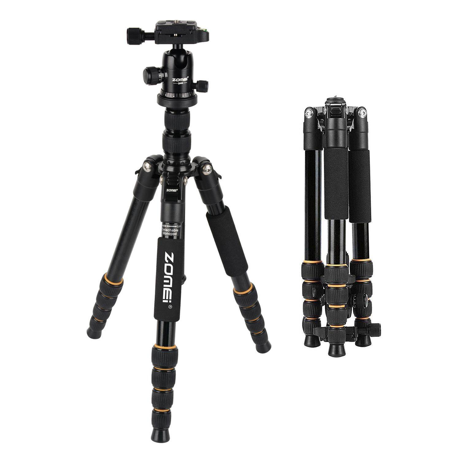 GoodScool Portable 180 Degree Reversible,ZOMEI Q666 Proline Retractable Tripod With Ball Head For Any Camera, Camcorder, DSLR, Mirrorless Or Point-and-shoot Camera
