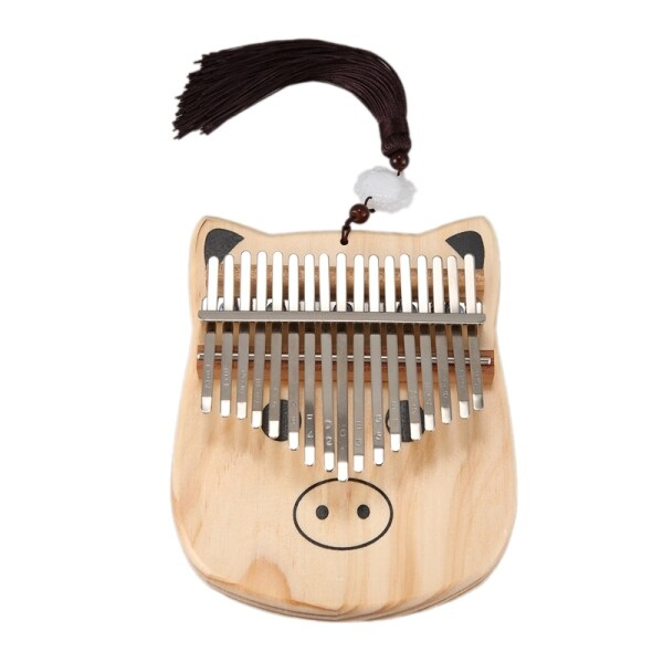 Mini Kalimba 17 Keys Thumb Piano with Tune Hammer Wood Hand Finger Piano Mbira Gifts for Kids Adult Beginners
