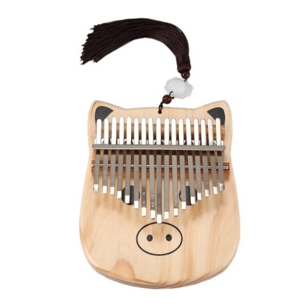 Mini Kalimba 17 Keys Thumb Piano with Tune Hammer Wood Hand Finger Piano Mbira Gifts for Kids Adult Beginners