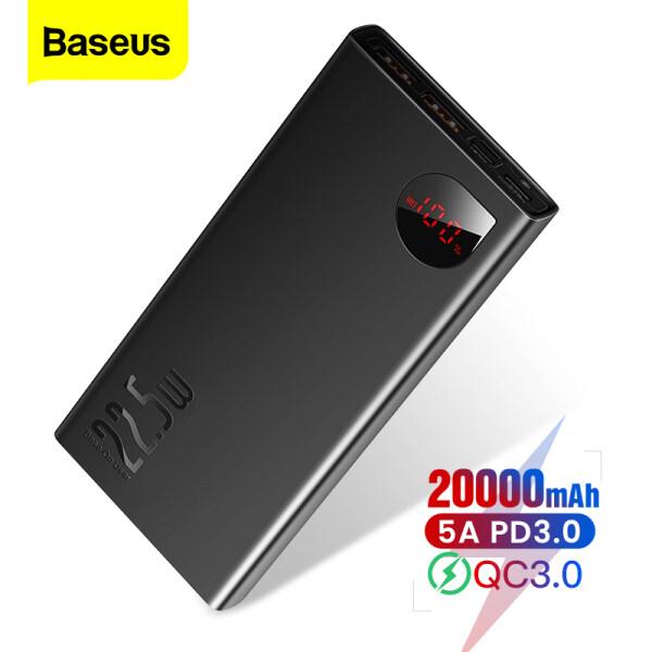 Baseus 22.5W 20000 mAh Powerbank Sạc nhanh Super Charge + PD + QC3.0 + FCP Sạc nhanh cho iPhone Bộ sạc pin bên ngoài di động