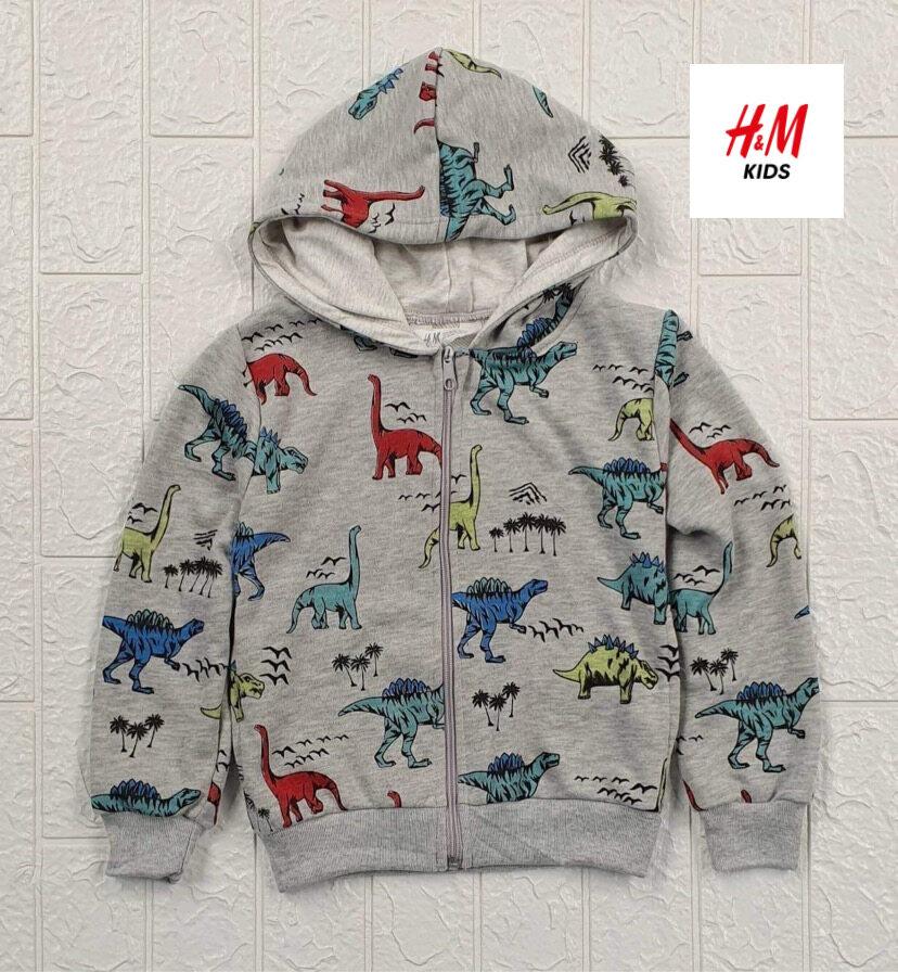 มีเก็บปลายทาง‼️h&m : เสื้อกันหนาว เสื้อแจ็คเก็ต แขนยาว Hoodies ลายไดโนเสาร์.