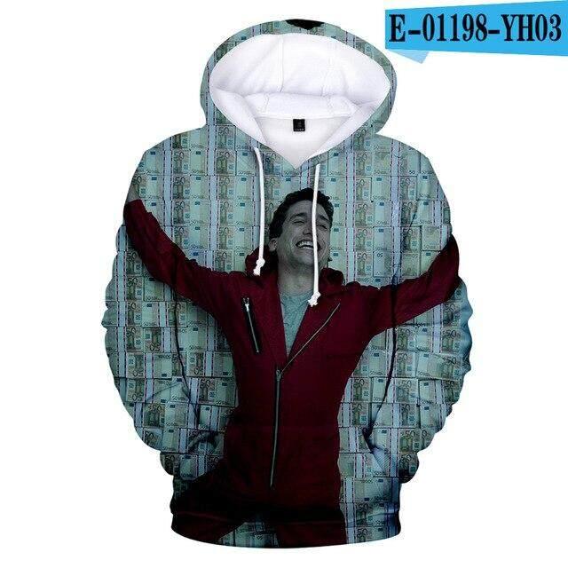Unisex Fashion Money Heist Paper of House Hoodies La Casa De Papel Sweatshirt W
