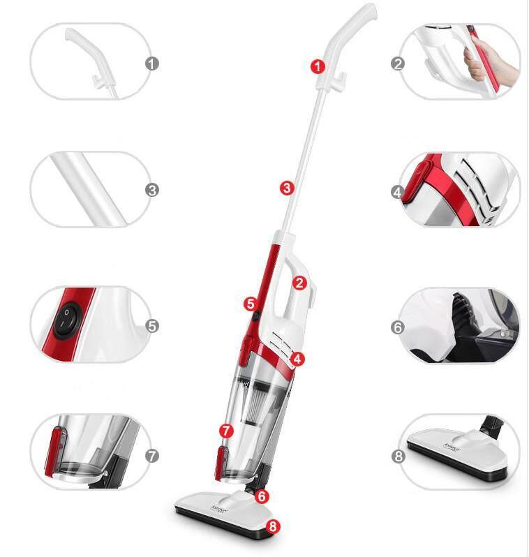 2019 Big Promotion เครื่องดูดฝุ่นขนาดกะทัดรัดมือถือเครื่องดูดฝุ่นแบบพกพาขนาดเล็กที่แข็งแรง 2 สีแดง Stick Handle Vacuum Cleaner 2in1